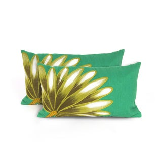 Giant Leaf Indoor/Outdoor 12 x 20 inch Throw Pillow (set of 2)