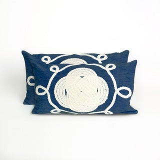 Nautical Knot Indoor/Outdoor 12 x 20 inch Throw Pillow (set of 2)