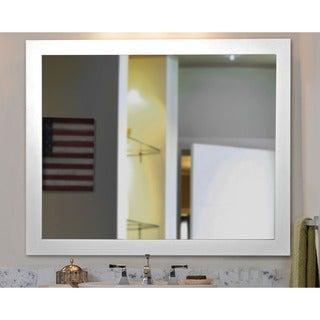American Made Rayne White Satin Wide Wall Mirror
