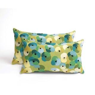 Flower Bed Indoor/Outdoor 12 x 20 inch Throw Pillow (set of 2)