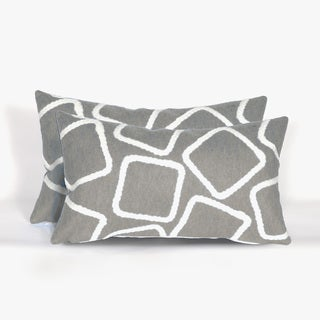 Cubes Indoor/Outdoor 12 x 20 inch Throw Pillows (set of 2)