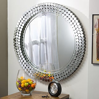 Gavell Contemporary Round Accent Wall Mirror