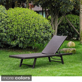 International Caravan Barbados Resin Wicker/ Aluminum Multi-position Folding Chaise Lounge