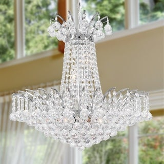Empire Collection 8-light Chrome Finish and Clear Crystal Chandelier
