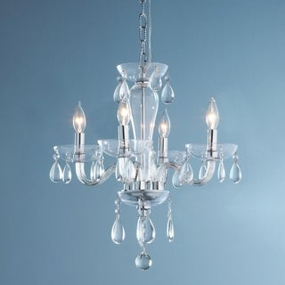 Gatsby Collection 5-light Chrome Finish and Clear Blown Glass Chandelier