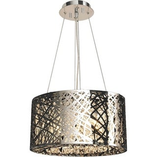 Aramis Collection 9 LED-light Chrome Finish and Clear Crystal Chandelier