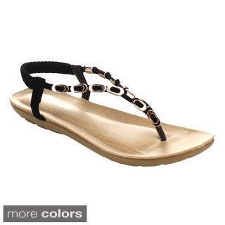 Forever Calista-85 Women's Metal Buckle Decoration Sling Back Sandals