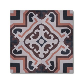 Ifran Brown and Tan Handmade Cement and Granite Moroccan Tile 8-inch Floor and Wall Tile (Pack of 12)