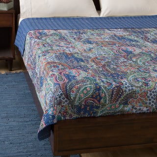 Cotton Kantha Blue Bed Cover (India)