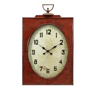 Carnen Oversized Red Wall Clock