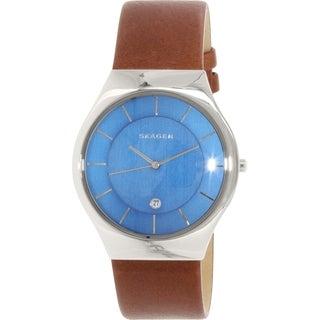 Skagen Men's Grenen SKW6160 Brown Leather Quartz Watch