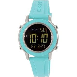 DKNY Women's Tompkins NY2326 Teal Rubber Quartz Watch