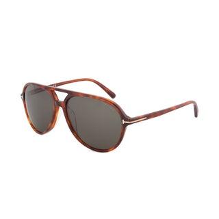 Tom Ford Asian Fit Sunglasses, Havana Frame, Green Lens, Size 60mm