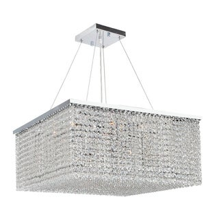Prism Collection 12-light Chrome Finish and Clear Crystal Chandelier
