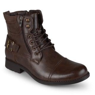 Vance Co. Men's Lace-up Casual Combat Boots