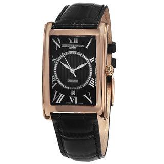 Frederique Constant Men's 'Classics' Black Dial Black Leather Strap Watch
