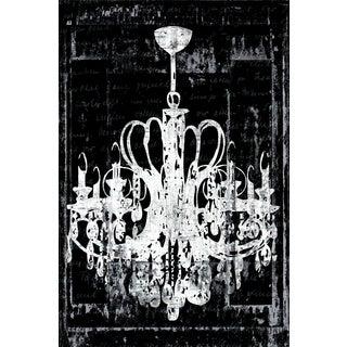 IHD Studio 'Chandelier 3 in Black' Framed Canvas Wall Art