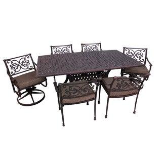 Azusa Bronze-colored 7-piece Patio Dining Set