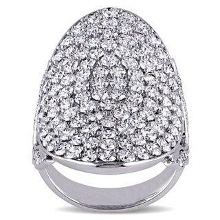 Miadora 14k White Gold 3 4/5ct TDW Diamond Cluster Ring (G-H, SI1-SI2)