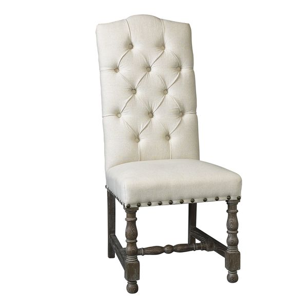 somette warrenton natural hand tufted dining room chair set of 2