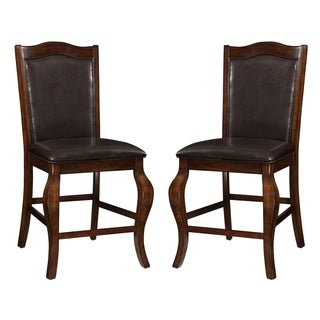 Obernau Rich Antique Counter Height Dining Stools (Set of 2)