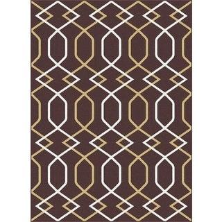 Geometric 1080 Metro Chocolate Rug (7'10 x 10'3)
