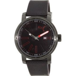 Puma Men's PU103961001 Black Rubber Quartz Watch