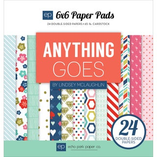 Echo Park DoubleSided Paper Pad 6inX6in 24/PkgAnything Goes