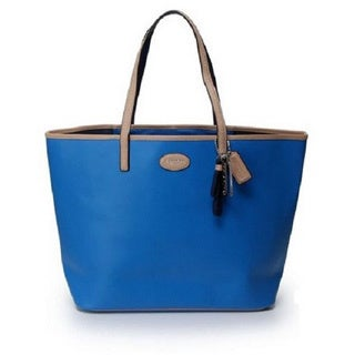 Coach Metro North Large Blue Leather Tote