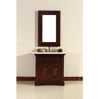 James Martin 26-inch Brown Mirror