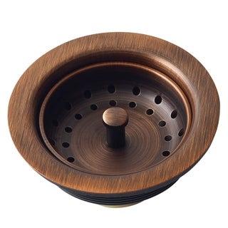 3.5-inch Antique Copper Finished Solid Brass Kitchen Sink Strainer