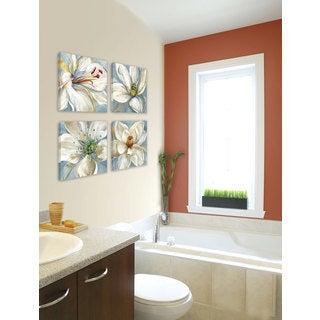 Sandy Doonan 'Colorburst I' Framed Canvas Wall Art (Set of 4)