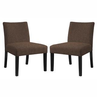 angelo:HOME Bradstreet Parisian Chocolate Brown Chair Set - Set of 2