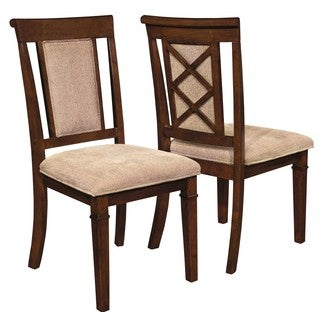 Bartlet X Design Distressed Walnut Dining Chairs (Set of 2)