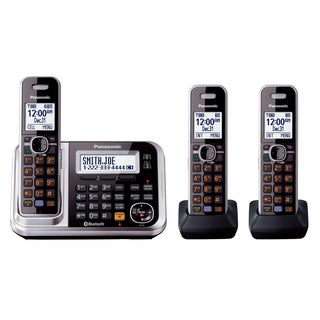Panasonic Link2Cell Bluetooth Cordless Phone with 3-handsets
