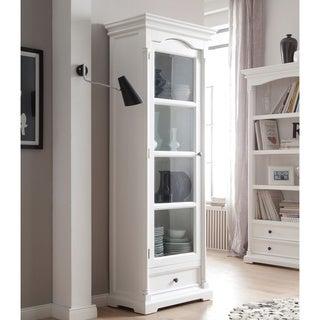 Novasolo White Mahogany Glass Cabinet