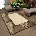 Indoor/ Outdoor Four Seasons Captivia Driftwood Area Rug (7'8