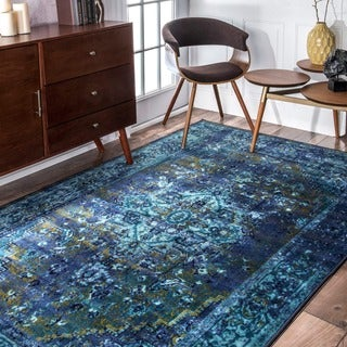 nuLOOM Traditional Vintage Inspired Overdyed Fancy Multi Rug (8' x 10')