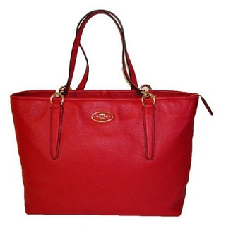 Coach Chicago Ellis Red Pebbled Leather Tote