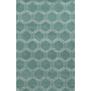 Rizzy Home Gillespie Avenue Hand-tufted Wool and Viscose Accent Rug (9' x 12')