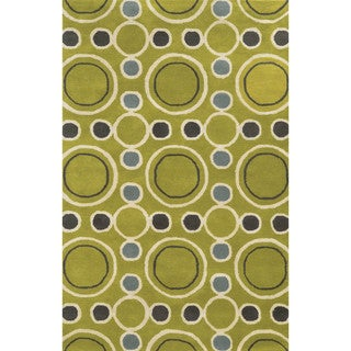 Rizzy Home Hand-tufted Gillespie Avenue Wool and Viscose Accent Rug (9' x 12')