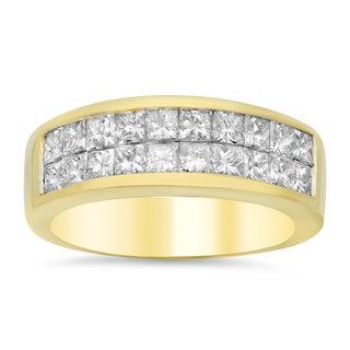 18k Yellow Gold 1 1/2ct TDW Diamond Ring (E-F, VS1-VS2)