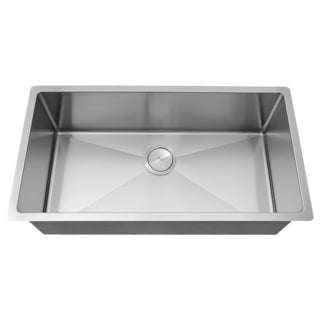 Phoenix 31.25-inch 18-gauge Stainleess Steel Undermount Single Bowl Tight Radius Kitchen Sink
