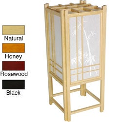Bamboo Tree Shoji Hand-crafted 18-inch Rice Paper Accent Lamp (China)