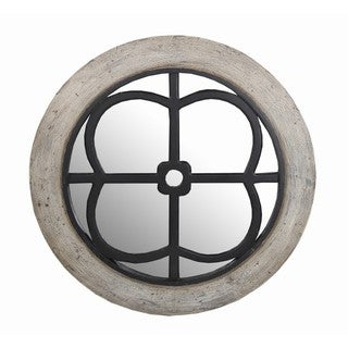 Privilege Wooden Round Mirror