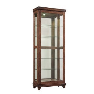 Bell'O Mayfield Cherry Curio Cabinet