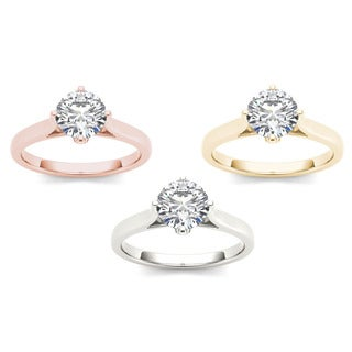 De Couer 14k Gold 1ct TDW Diamond Exquisite Engagement Ring (H-I, I2)