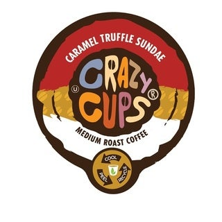 Crazy Cups 'Caramel Truffle Sandae' Single Serve Coffee K-Cups