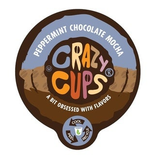 Crazy Cups 'Peppermint Chocolate Mocha' Single Serve Coffee K-Cups