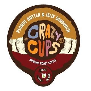 Crazy Cups 'Peanut Butter & Jelly Sandwich' Single Serve Coffee K-Cups